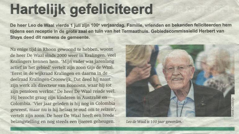 Leo de Waal 100